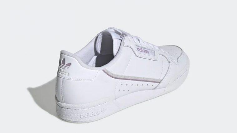 adidas Continental 80 White Purple EG8136 back thumbnail image