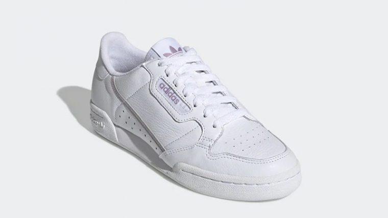 adidas Continental 80 White Purple EG8136 front thumbnail image