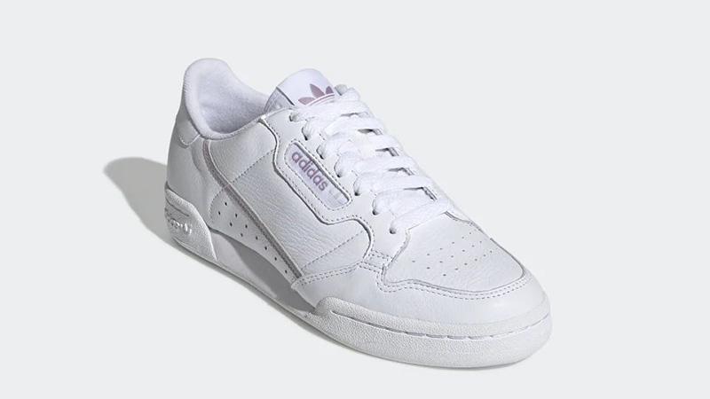 adidas Continental 80 White Purple EG8136 front