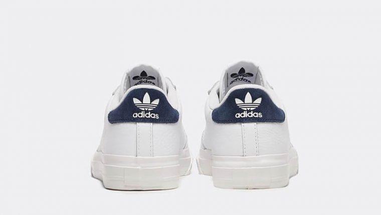 adidas Continental Vulc White Navy Womens back