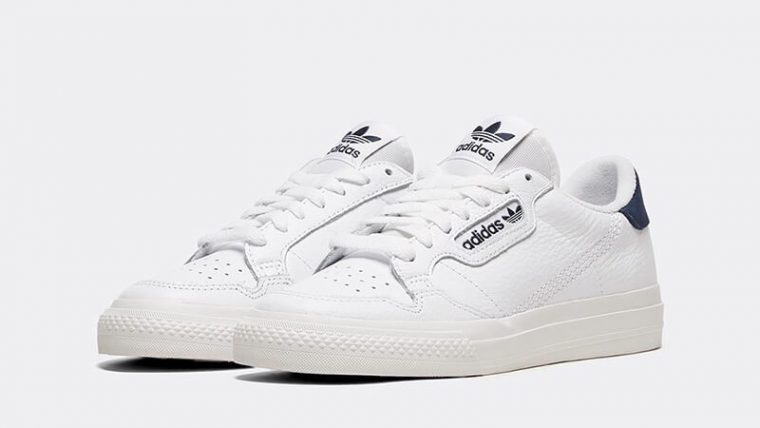 adidas Continental Vulc White Navy Womens front