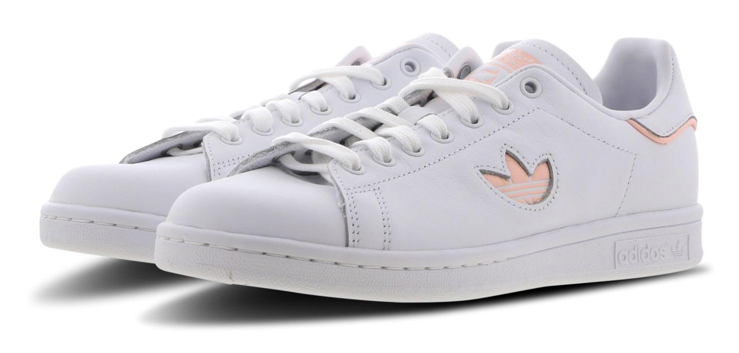 los angeles c0727 19b43 adidas Stan Smith Mini Trefoil White Pink