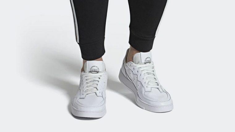 adidas Supercourt White EE6037 on foot thumbnail image