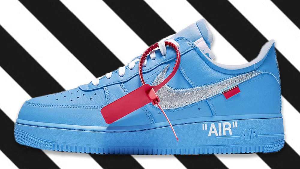 new concept 628c8 784fe A Closer Look At The Off-White x Nike Air Force 1 MCA 'Blue ...