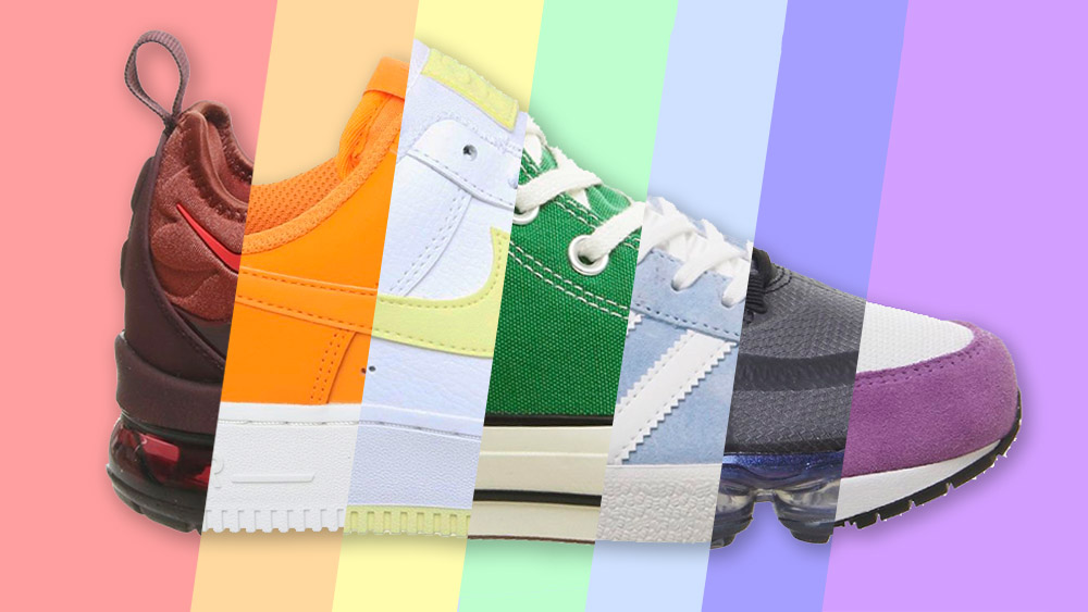 Nice rainbow colors for these sneakers