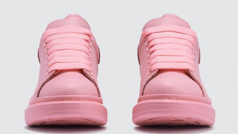 Alexander McQueen Raised Sole Low Top Pink front thumbnail image