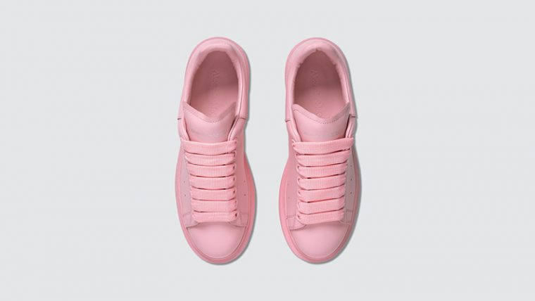 Alexander McQueen Raised Sole Low Top Pink middle thumbnail image