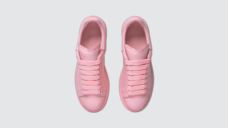 Alexander McQueen Raised Sole Low Top Pink middle