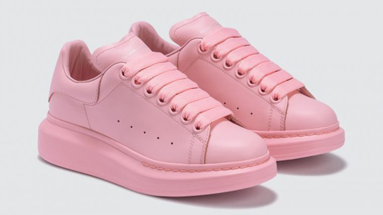 Alexander McQueen Raised Sole Low Top Pink side thumbnail image