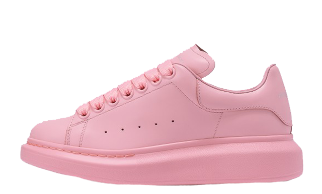 Alexander McQueen Raised Sole Low Top Pink