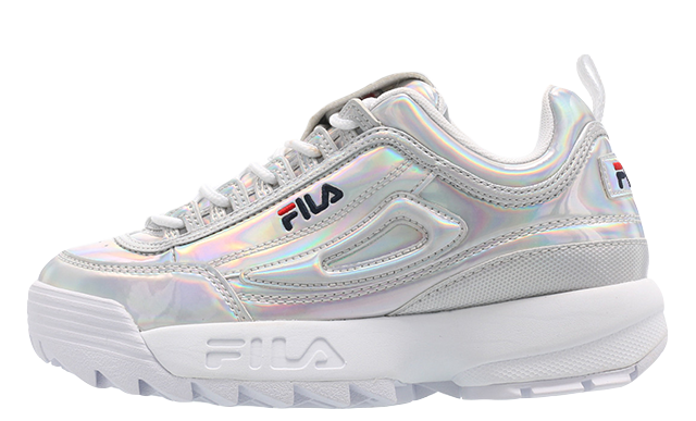 Fila Disruptor M Low Silver