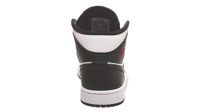 Jordan 1 Mid White Red Black back thumbnail image