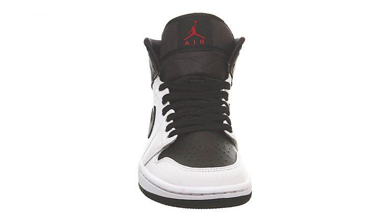 Jordan 1 Mid White Red Black front thumbnail image