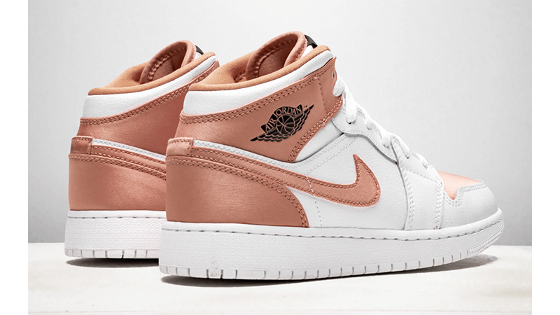 air jordan 1 mid gs white rose gold