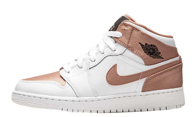 Jordan 1 Mid White Rose Gold GS 555112-190