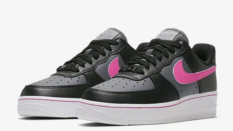 Nike Air Force 1 Low Black Pink CJ9699-001 front thumbnail image