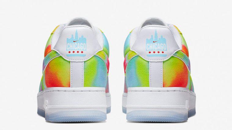 Nike Air Force 1 Low Tie Dye Chicago CK0838-100 back thumbnail image