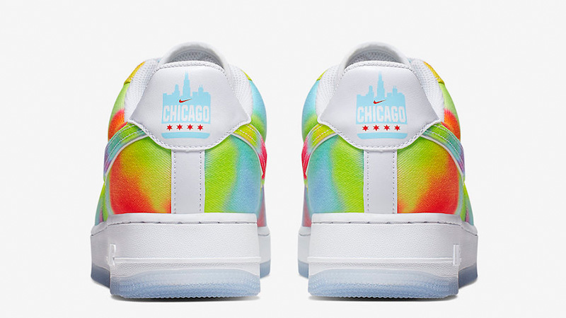Nike Air Force 1 Low Tie Dye Chicago CK0838-100 back