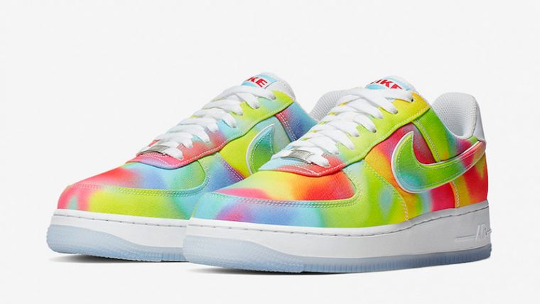Nike Air Force 1 Low Tie Dye Chicago CK0838-100 front thumbnail image