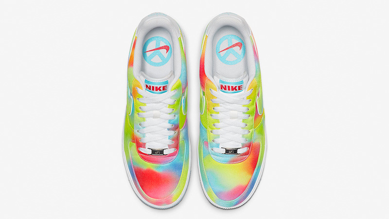 Nike Air Force 1 Low Tie Dye Chicago CK0838-100 middle