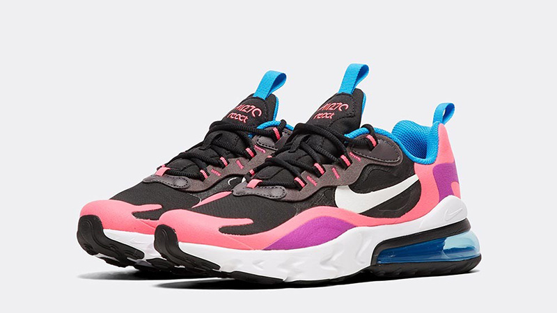 promo code c969a ab78f Nike Air Max 270 React Black Hyper Pink Junior