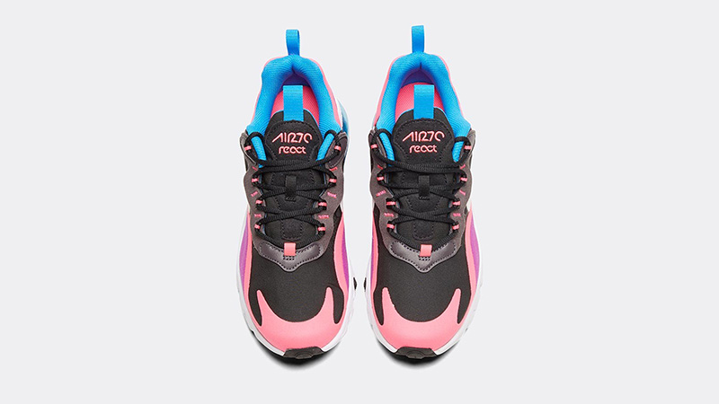 promo code 336ec 80b8a Nike Air Max 270 React Black Hyper Pink Junior