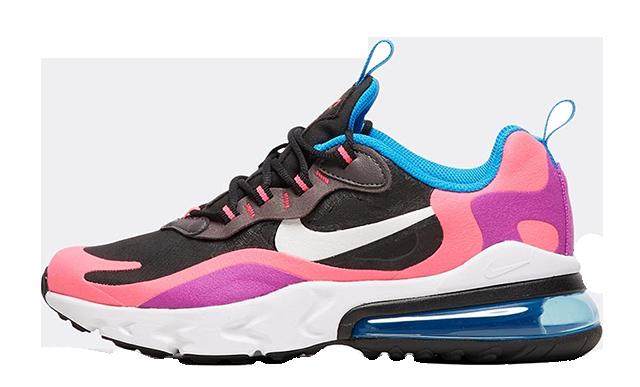 Nike Air Max 270 React Black Hyper Pink Junior