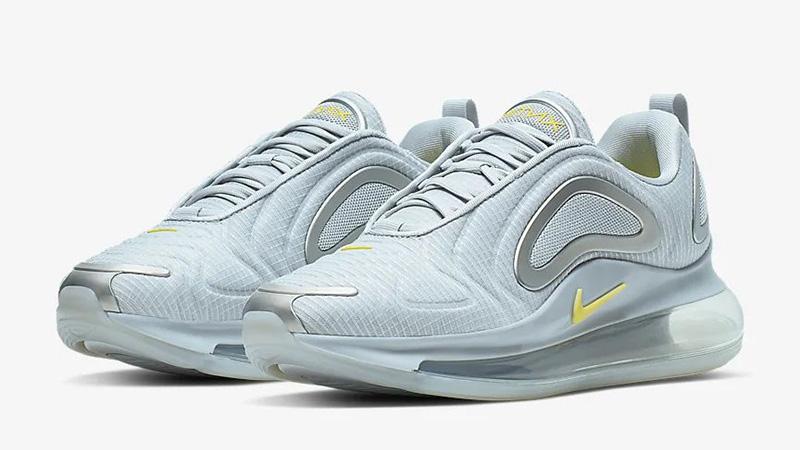 Nike Air Max 720 Pure Platinum Yellow CN0141-001 front