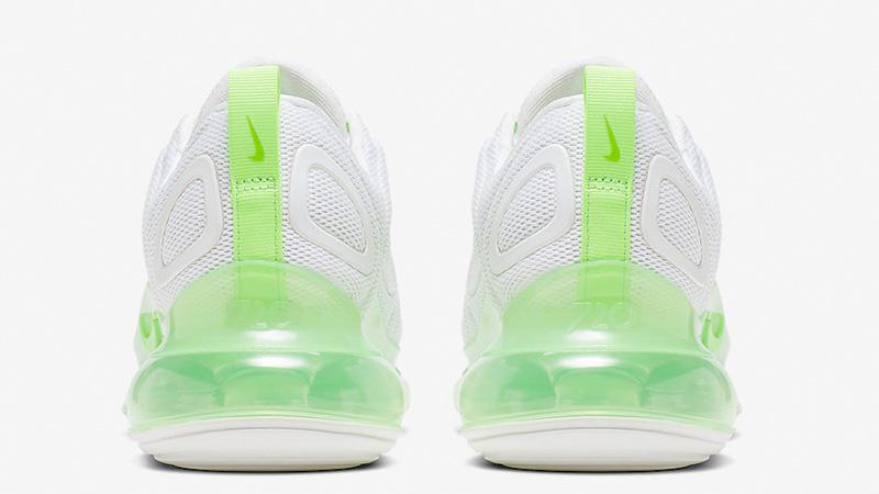 Nike Air Max 720 White Volt AR9293-104 back