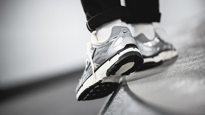 Nike P-6000 Metallic Silver CN0149-001 on foot back