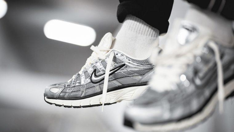 Nike P-6000 Metallic Silver CN0149-001 on foot front thumbnail image