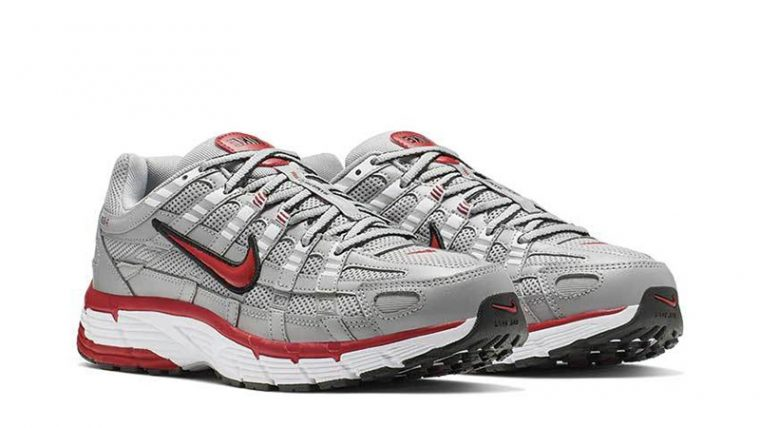 Nike P-6000 Silver Red CD6404-001 front thumbnail image