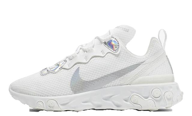 Rechazar galón Puerto  Nike React Element 55 White Silver | Where To Buy | CN0147-100 | The Sole  Womens