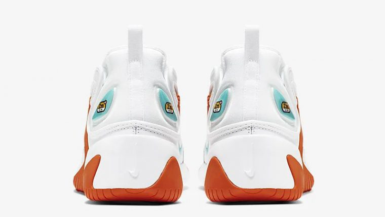 Nike Zoom 2K White Orange AO0354-105 back thumbnail image