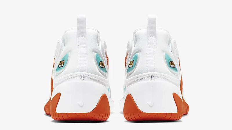 Nike Zoom 2K White Orange AO0354-105 back