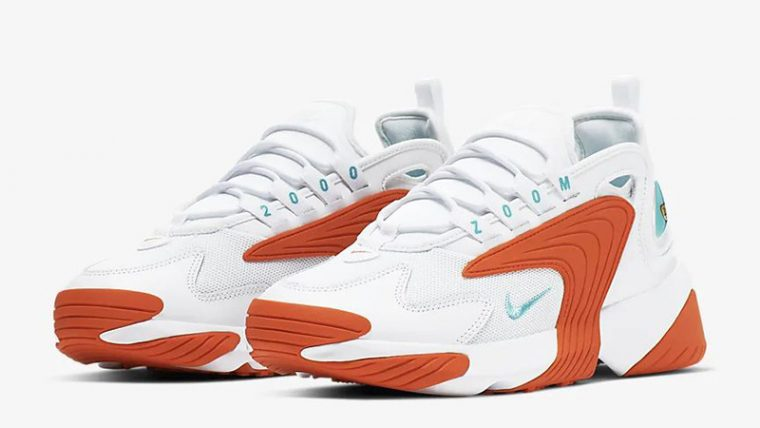 Nike Zoom 2K White Orange AO0354-105 front thumbnail image
