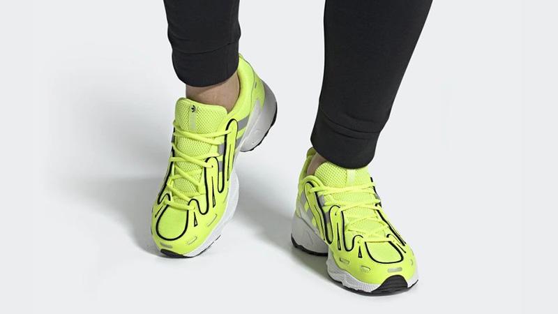 adidas EQT Gazelle Solar Yellow EE4773 on foot