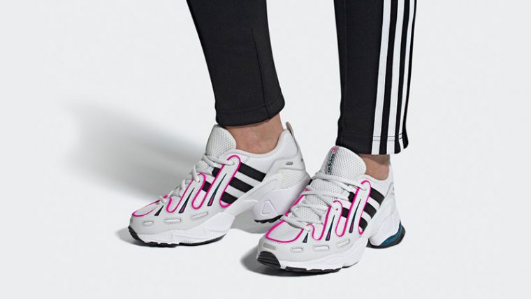 adidas EQT Gazelle White Pink EE6486 on foot thumbnail image