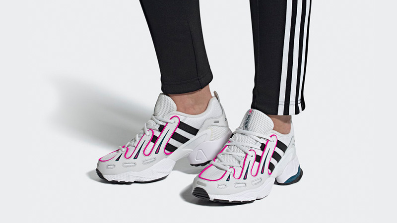 adidas EQT Gazelle White Pink EE6486 on foot