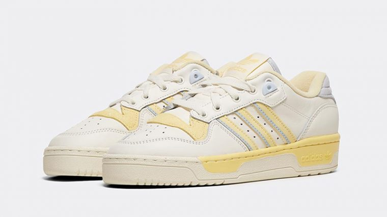 adidas Rivalry Low White Yellow front