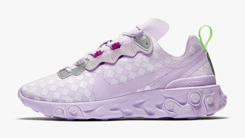 Nike React Element 55 Brely Grape