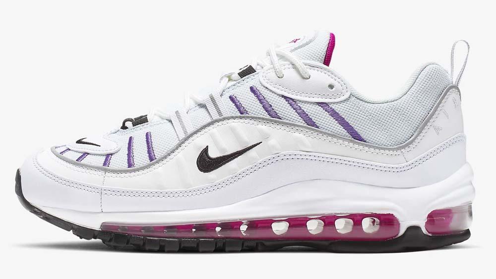 Nike Air Max 98 White Purple