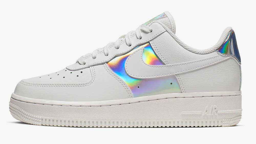 Nike Air Force 1 Holographic Silver White