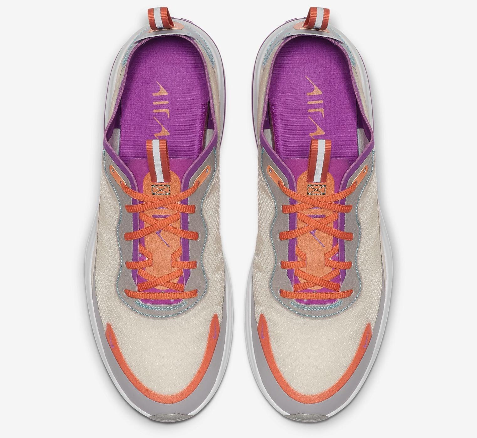 Nike Air Max DiaLight Orewood Brown/Starfish/Atmosphere Grey/Hyper Violet top down