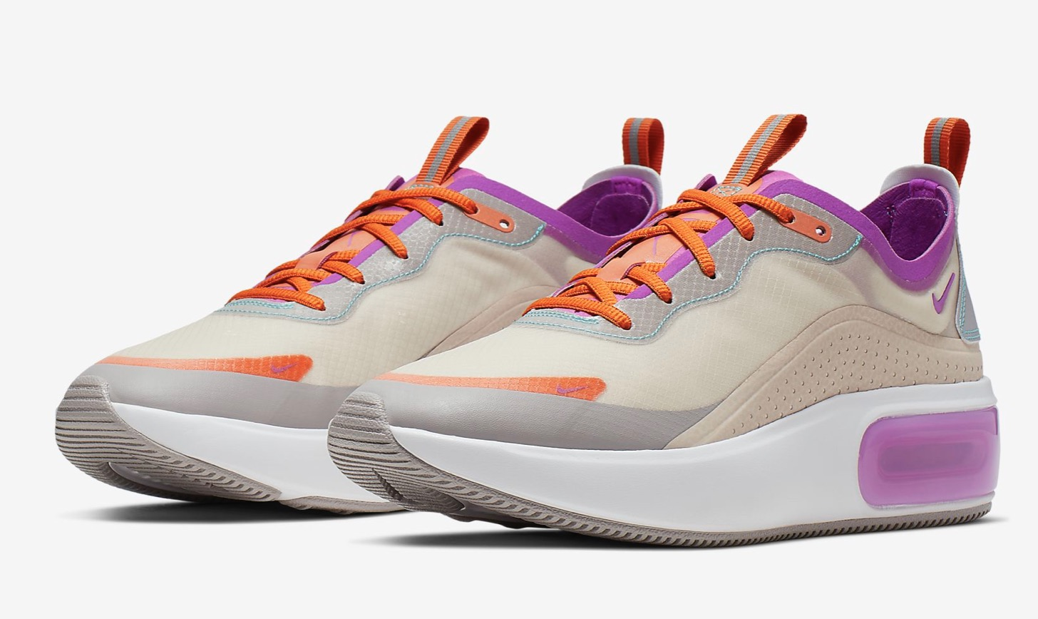 Nike Air Max DiaLight Orewood Brown/Starfish/Atmosphere Grey/Hyper Violet side view 1