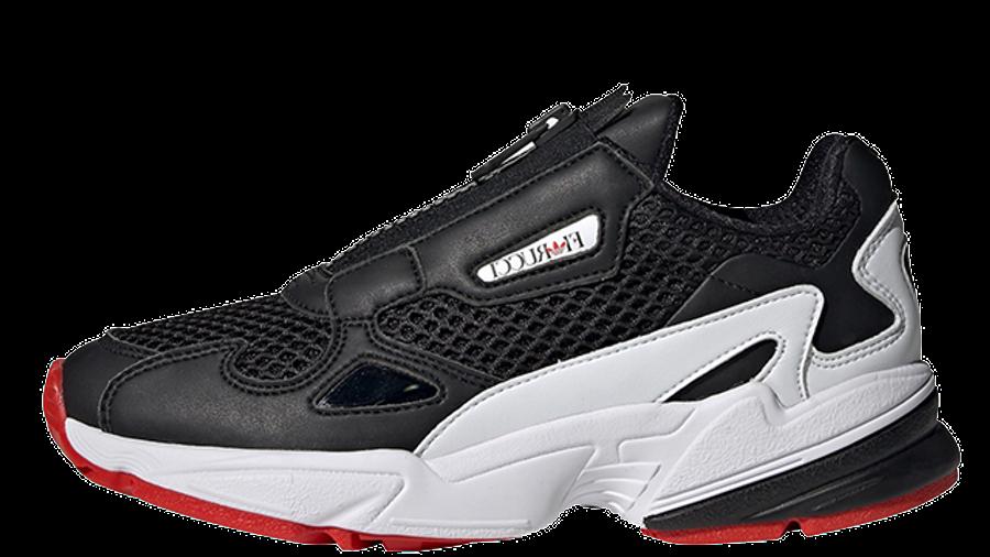 Fiorucci x adidas Falcon Zip Black White Womens EF3644