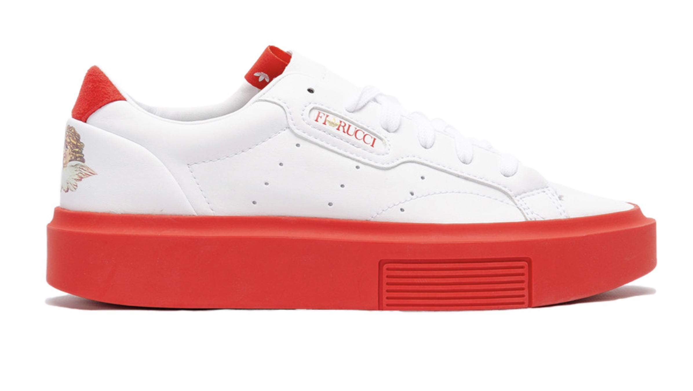 Fiorucci's Latest Collaboration With adidas Is A Sleek Super, In Bold Red Hues