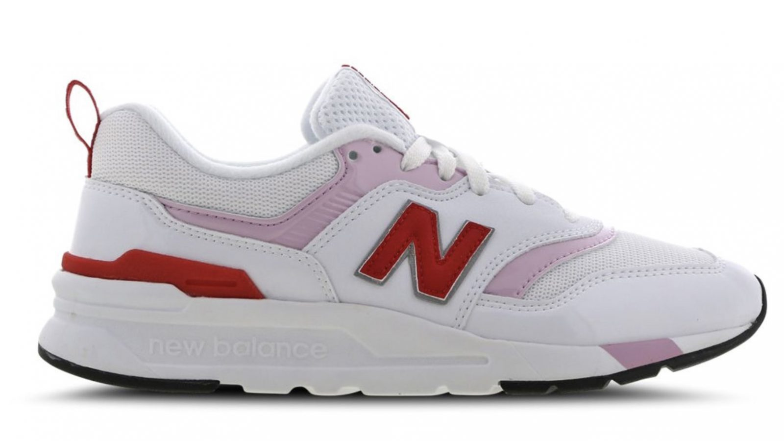 New Balance W997 White Pink Red Side