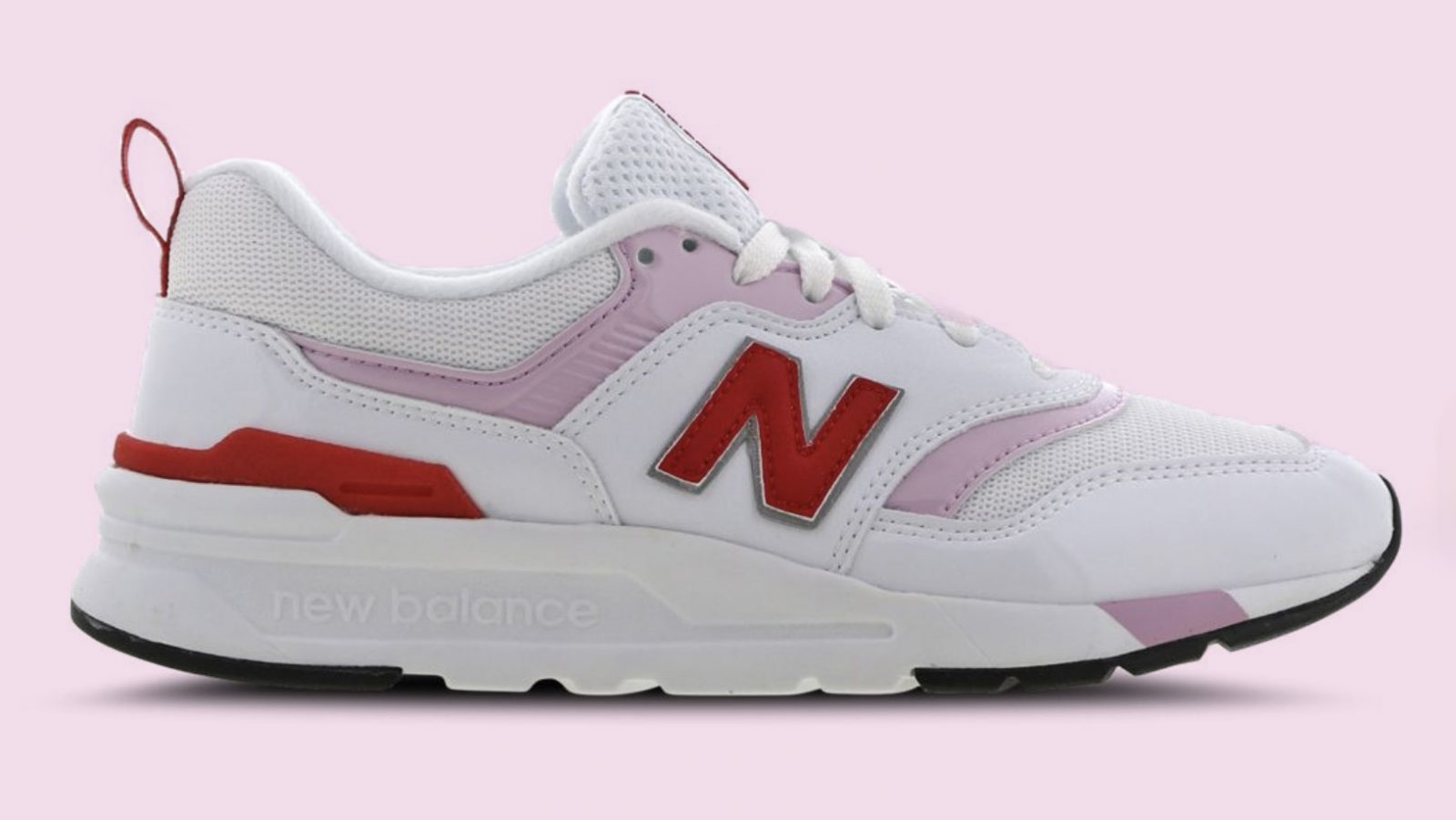 New Balance W997 White Pink Red Feature