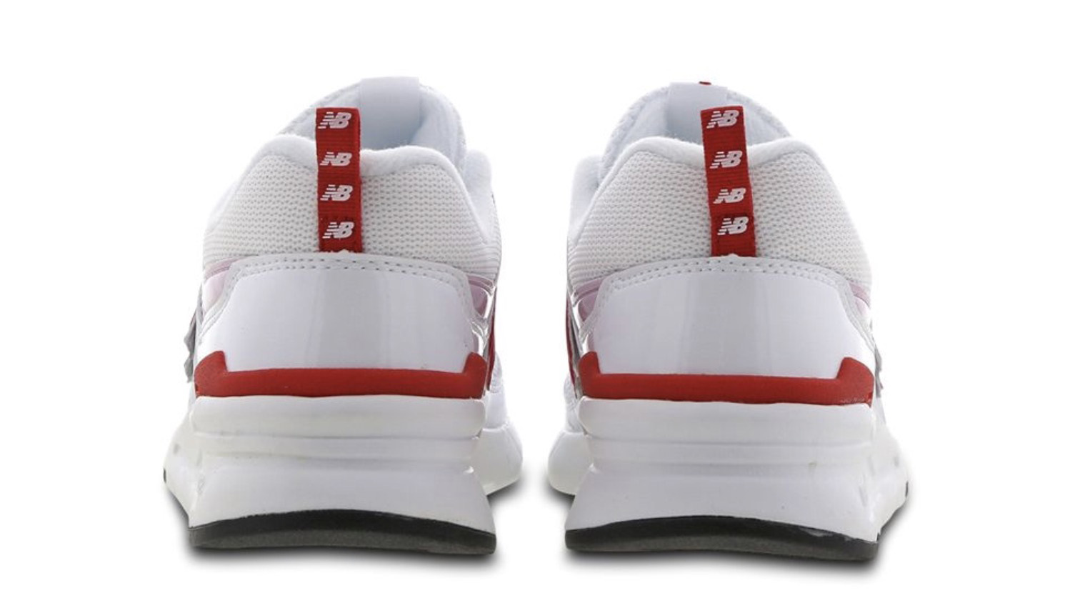 New Balance W997 White Pink Red Back